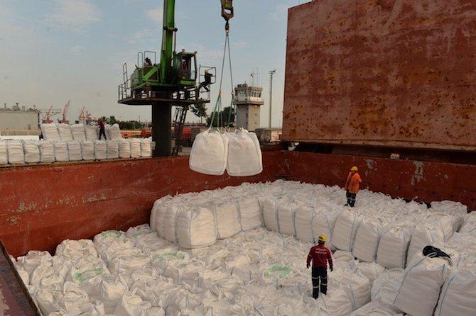 Mersin'den Yemen'e 5 bin tonluk yardım gemisi
